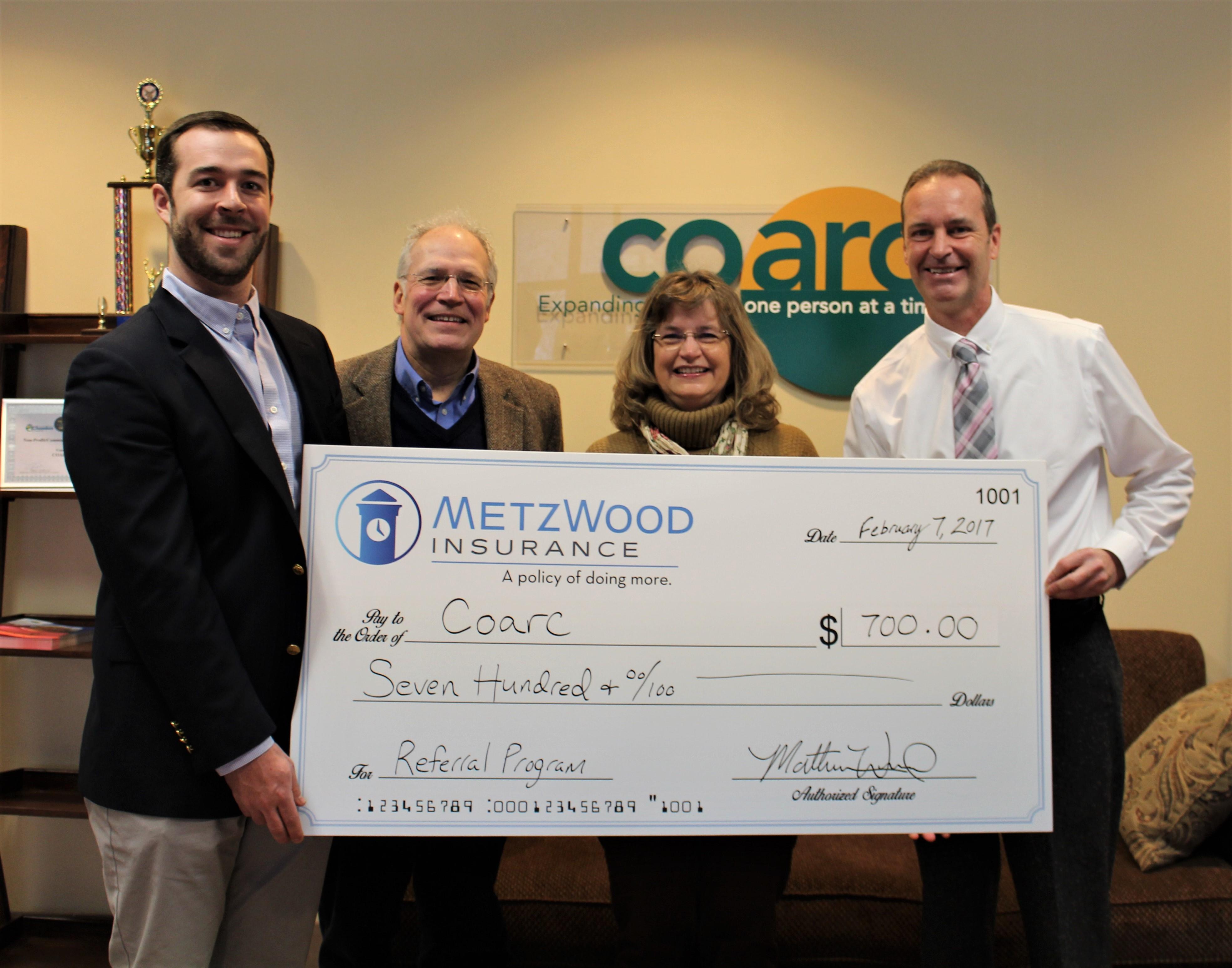 Thank you, MetzWood Insurance!